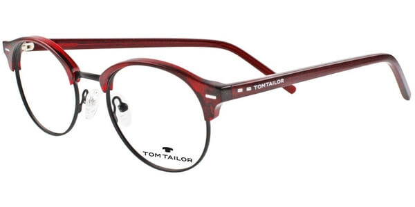 Dioptrické brýle Tom Tailor model 60410, barva obruby vínová černá lesk, stranice vínová lesk, kód barevné varianty 513.