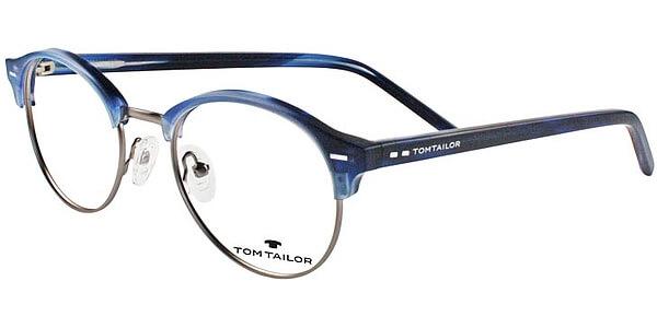 Dioptrické brýle Tom Tailor model 60410, barva obruby modrá stříbrná mat, stranice modrá mat, kód barevné varianty 549.