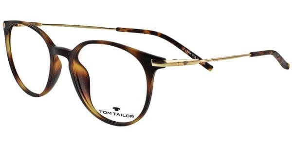 Dioptrické brýle Tom Tailor model 60412, barva obruby hnědá mat, stranice zlatá mat, kód barevné varianty 498.