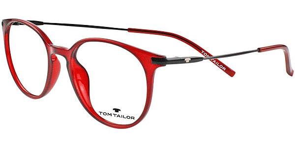 Dioptrické brýle Tom Tailor model 60412, barva obruby vínová lesk, stranice černá lesk, kód barevné varianty 499.