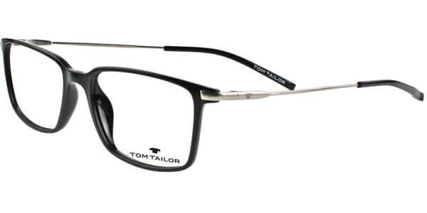 Dioptrické brýle Tom Tailor model 60413, barva obruby černá lesk, stranice stříbrná mat, kód barevné varianty 501.
