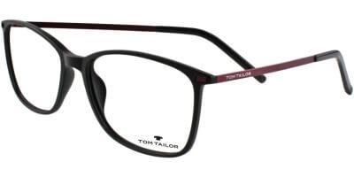 Dioptrické brýle Tom Tailor model 60426, barva obruby černá mat, stranice červená mat, kód barevné varianty 302.