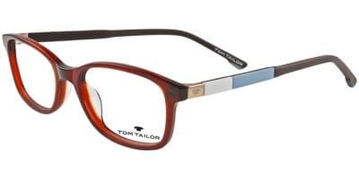 Dioptrické brýle Tom Tailor model 60442, barva obruby hnědá lesk, stranice hnědá modrá mat, kód barevné varianty 351.