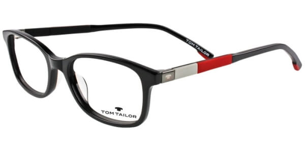 Dioptrické brýle Tom Tailor model 60442, barva obruby černá lesk, stranice černá červená mat, kód barevné varianty 353.