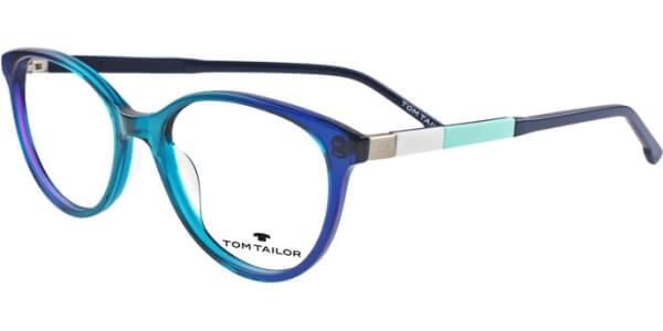 Dioptrické brýle Tom Tailor model 60444, barva obruby modrá tyrkysová lesk, stranice modrá bílá mat, kód barevné varianty 357.