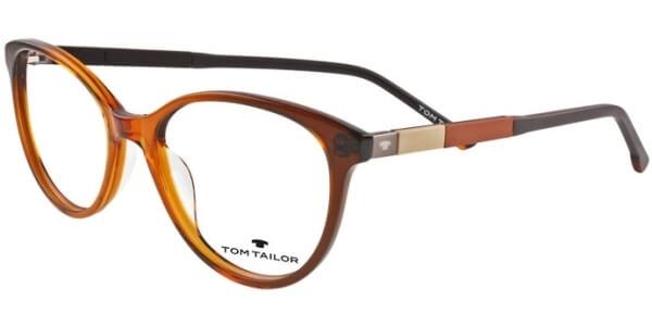 Dioptrické brýle Tom Tailor model 60444, barva obruby hnědá lesk, stranice hnědá béžová mat, kód barevné varianty 358.