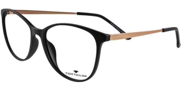 Dioptrické brýle Tom Tailor model 60451, barva obruby černá mat, stranice zlatá mat, kód barevné varianty 378.
