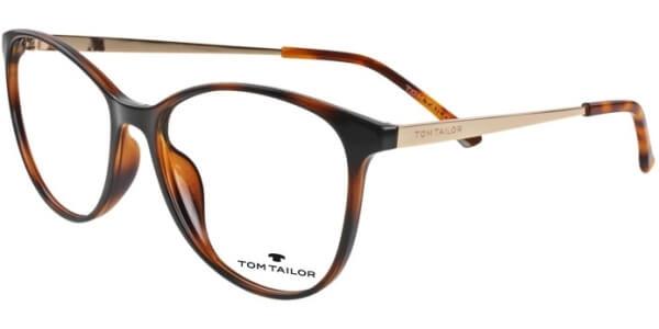 Dioptrické brýle Tom Tailor model 60451, barva obruby hnědá lesk, stranice zlatá lesk, kód barevné varianty 380.