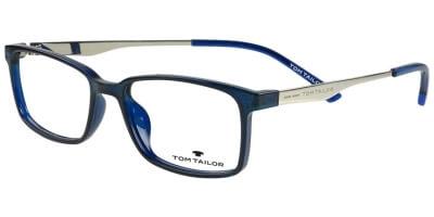 Dioptrické brýle Tom Tailor model 60478, barva obruby modrá lesk, stranice stříbná lesk, kód barevné varianty 453.