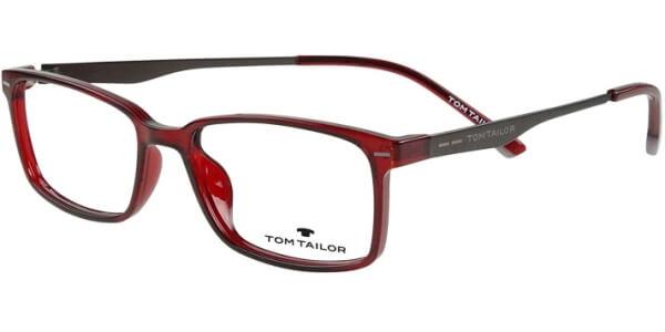 Dioptrické brýle Tom Tailor model 60478, barva obruby červená lesk, stranice stříbrná lesk, kód barevné varianty 454.