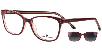 Dioptrické brýle Tom Tailor model 60534, barva obruby vínová lesk, stranice vínová lesk, kód barevné varianty 101.