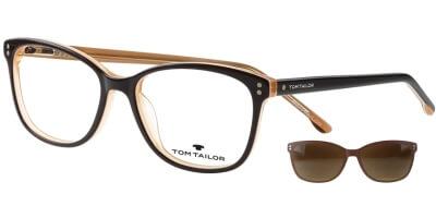 Dioptrické brýle Tom Tailor model 60534, barva obruby černá béžová lesk, stranice černá béžová lesk, kód barevné varianty 102.