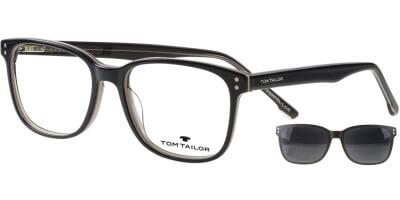 Dioptrické brýle Tom Tailor model 60535, barva obruby černá béžová lesk, stranice černá béžová lesk, kód barevné varianty 104.