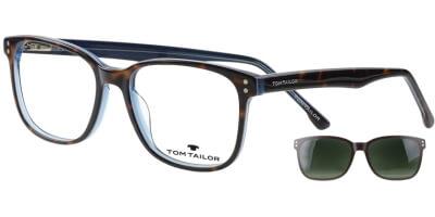 Dioptrické brýle Tom Tailor model 60535, barva obruby hnědá modrá lesk, stranice hnědá modrá lesk, kód barevné varianty 105.