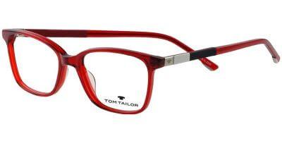 Dioptrické brýle Tom Tailor model 60554, barva obruby červená lesk, stranice červená lesk, kód barevné varianty 165.