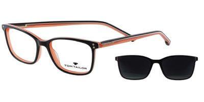 Dioptrické brýle Tom Tailor model 60564, barva obruby černá oranžová lesk, stranice černá oranžová lesk, kód barevné varianty 195.