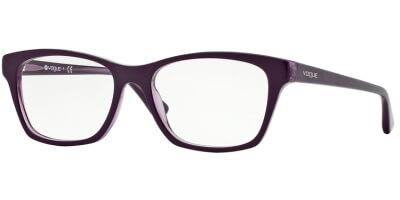 Dioptrické brýle Vogue model 2714, barva obruby fialová lesk, stranice fialová lesk, kód barevné varianty 1887.