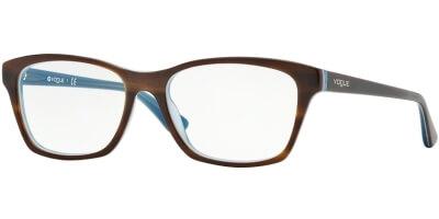 Dioptrické brýle Vogue model 2714, barva obruby hnědá modrá lesk, stranice hnědá modrá lesk, kód barevné varianty 2014.