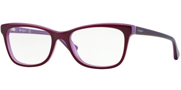 Dioptrické brýle Vogue model 2763, barva obruby vínová fialová lesk, stranice vínová lesk, kód barevné varianty 2015.