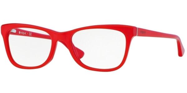 Dioptrické brýle Vogue model 2763, barva obruby červená lesk, stranice červená lesk, kód barevné varianty 2135.