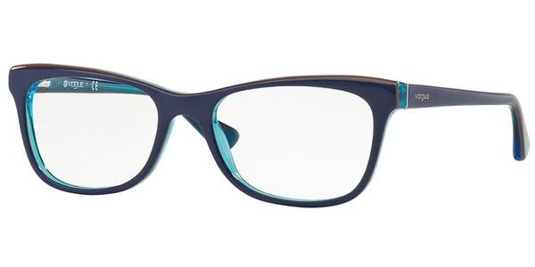 Dioptrické brýle Vogue model 2763, barva obruby modrá oranžová lesk, stranice modrá lesk, kód barevné varianty 2278.