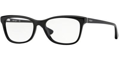 Dioptrické brýle Vogue model 2763, barva obruby černá lesk, stranice černá lesk, kód barevné varianty W44.