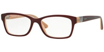 Dioptrické brýle Vogue model 2765B, barva obruby vínová lesk, stranice vínová béžová lesk, kód barevné varianty 2323.