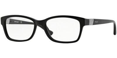 Dioptrické brýle Vogue model 2765B, barva obruby černá lesk, stranice černá lesk, kód barevné varianty W44.
