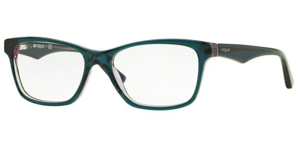 Dioptrické brýle Vogue model 2787, barva obruby zelená fialová lesk, stranice zelená fialová lesk, kód barevné varianty 2267.