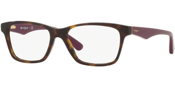 Dioptrické brýle Vogue model 2787, barva obruby hnědá lesk, stranice fialová lesk, kód barevné varianty 2406.