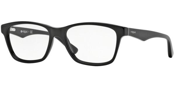 Dioptrické brýle Vogue model 2787, barva obruby černá lesk, stranice černá lesk, kód barevné varianty W44.
