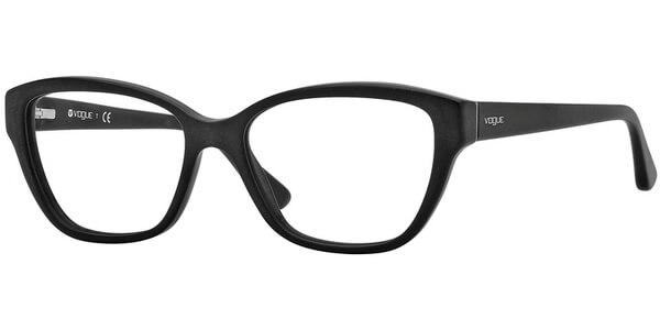 Dioptrické brýle Vogue model 2835, barva obruby černá mat, stranice černá mat, kód barevné varianty W44S.