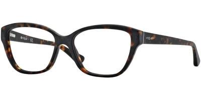 Dioptrické brýle Vogue model 2835, barva obruby hnědá mat, stranice hnědá mat, kód barevné varianty W656S.