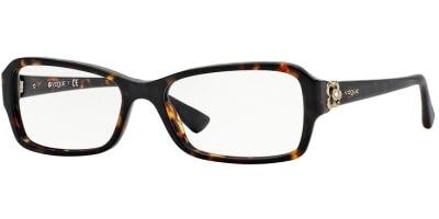 Dioptrické brýle Vogue model 2836B, barva obruby hnědá lesk, stranice hnědá lesk, kód barevné varianty W656.