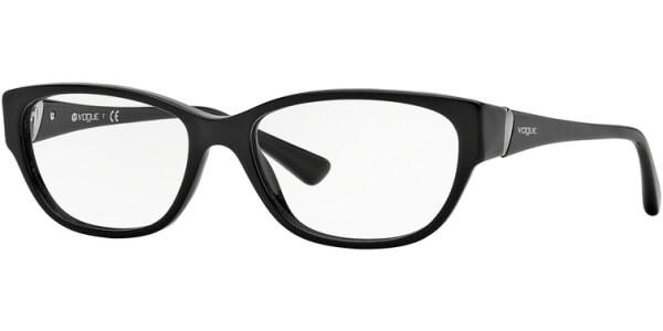 Dioptrické brýle Vogue model 2841, barva obruby černá lesk, stranice černá lesk, kód barevné varianty W44.