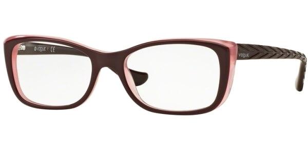 Dioptrické brýle Vogue model 2864, barva obruby vínová fialová lesk, stranice vínová lesk, kód barevné varianty 2262.