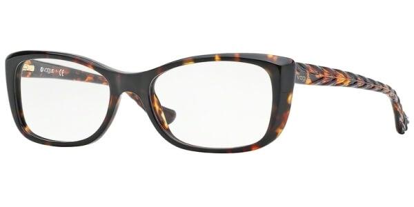 Dioptrické brýle Vogue model 2864, barva obruby hnědá lesk, stranice hnědá lesk, kód barevné varianty W656.