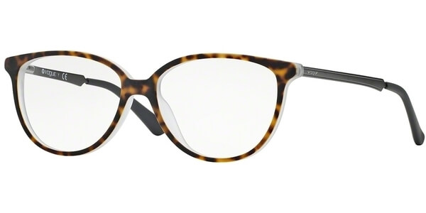 Dioptrické brýle Vogue model 2866, barva obruby hnědá čirá mat, stranice stříbrná lesk, kód barevné varianty 1916S.