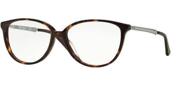 Dioptrické brýle Vogue model 2866, barva obruby hnědá mat, stranice stříbrná mat, kód barevné varianty W656.