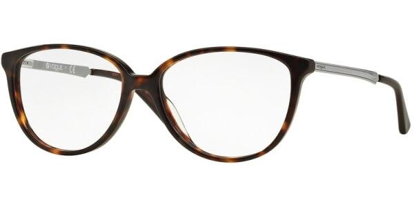 Dioptrické brýle Vogue model 2866, barva obruby hnědá lesk, stranice stříbrná lesk, kód barevné varianty W656.