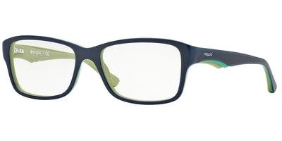 Dioptrické brýle Vogue model 2883, barva obruby modrá lesk, stranice modrá zelená lesk, kód barevné varianty 2229.