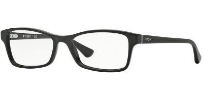 Dioptrické brýle Vogue model 2886, barva obruby černá lesk, stranice černá lesk, kód barevné varianty W44.