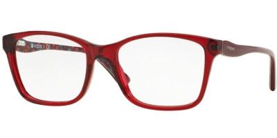 Dioptrické brýle Vogue model 2907, barva obruby červená lesk, stranice červená lesk, kód barevné varianty 2257.