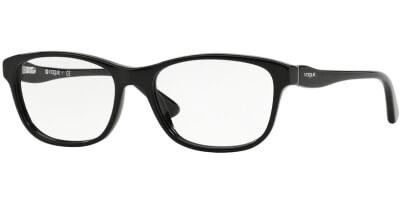 Dioptrické brýle Vogue model 2908, barva obruby černá lesk, stranice černá lesk, kód barevné varianty W44.