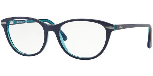 Dioptrické brýle Vogue model 2937, barva obruby modrá tyrkysová lesk, stranice modrá tyrkysová lesk, kód barevné varianty 2278.