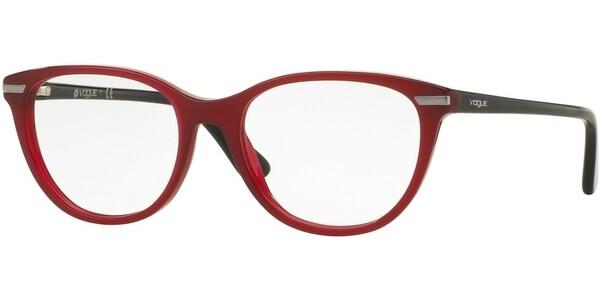 Dioptrické brýle Vogue model 2937, barva obruby vínová lesk, stranice černá lesk, kód barevné varianty 2391.