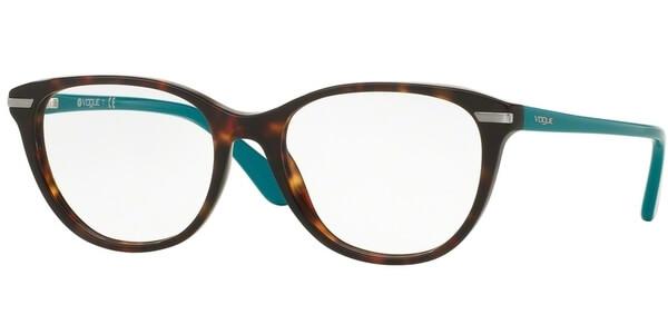 de7d1651d Dioptrické brýle Vogue model 2937, barva obruby hnědá lesk, stranice  tyrkysová lesk, kód
