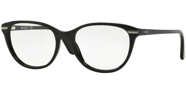 Dioptrické brýle Vogue model 2937, barva obruby černá lesk, stranice černá lesk, kód barevné varianty W44.