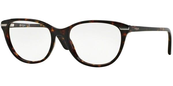 Dioptrické brýle Vogue model 2937, barva obruby hnědá lesk, stranice hnědá lesk, kód barevné varianty W656.