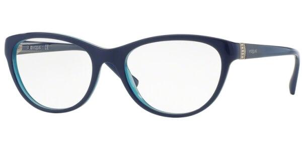 Dioptrické brýle Vogue model 2938B, barva obruby modrá lesk, stranice modrá lesk, kód barevné varianty 2388.